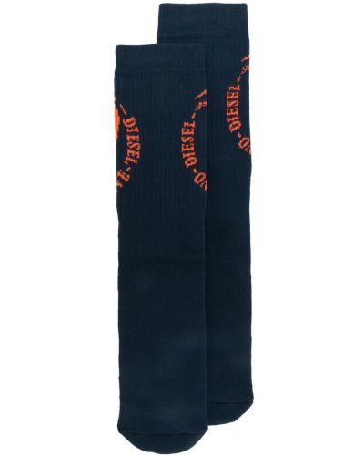 носки с ребристой фактурой с логотипом Diesel