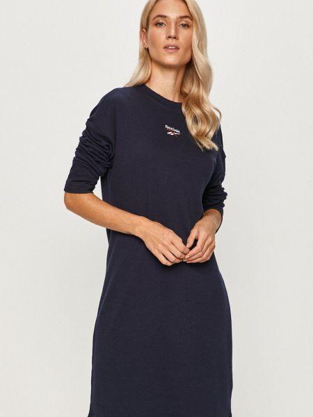 Трикотажное платье - синее Reebok Classic
