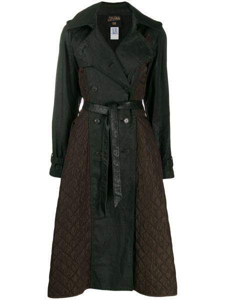 Черное стеганое пальто классическое двубортное Jean Paul Gaultier Pre-owned