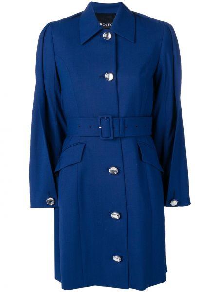 Шерстяной пальто классическое с карманами на пуговицах Y/project