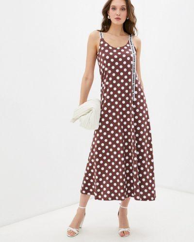 Коричневое платье осеннее Winzor
