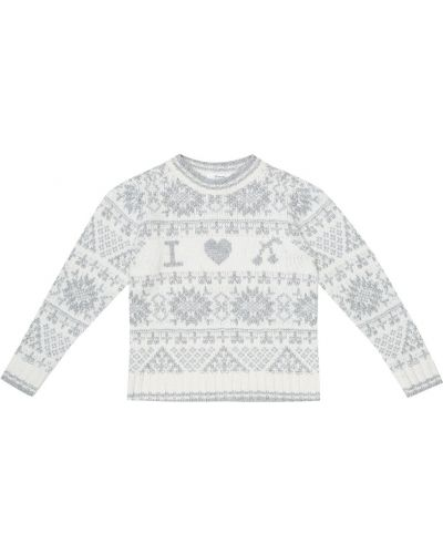 Ватный шерстяной серый свитер Bonpoint