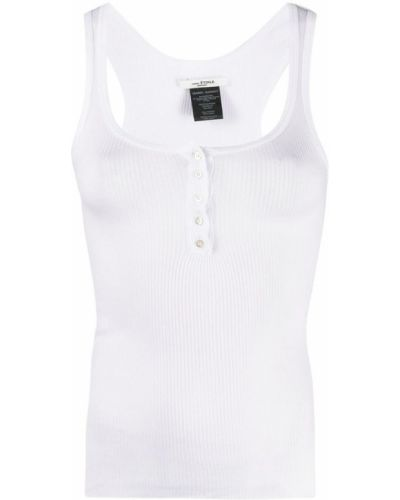 T-shirt w kratę - biała Isabel Marant Etoile