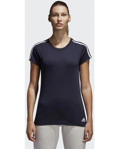 Синяя спортивная футболка Adidas