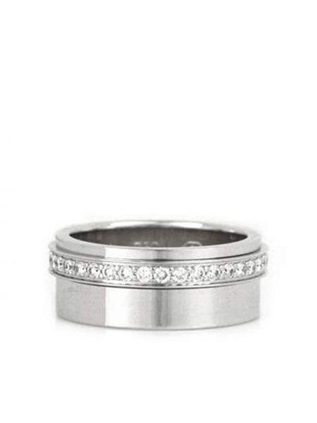 Biały złoty pierścionek z diamentem Piaget