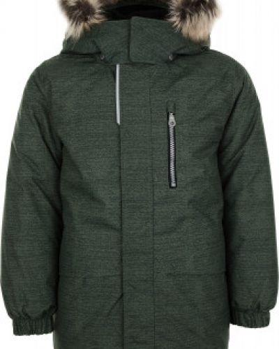 Зеленая утепленная куртка на молнии Lassie