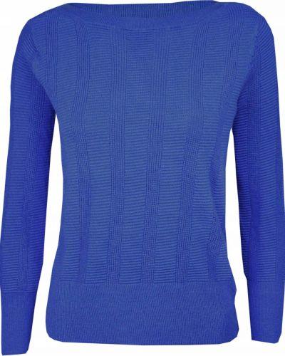 Sweter wełniany niebieski Marks&spencer