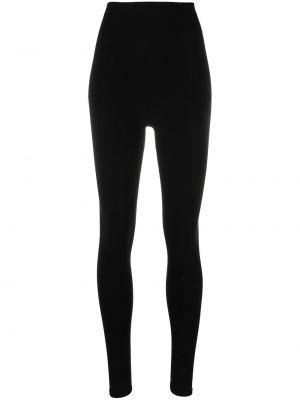 Czarne legginsy z wysokim stanem bawełniane Baserange