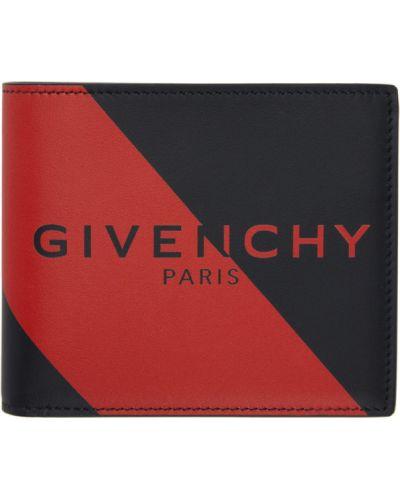 Włókienniczy czarny portfel z gniazdem prążkowany Givenchy