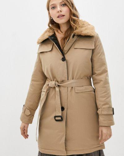 Бежевая утепленная куртка Goldrai