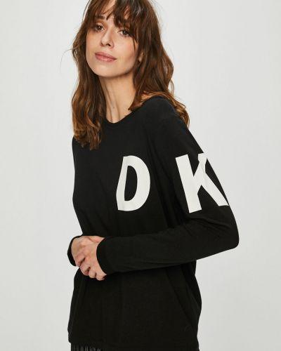Блузка с длинным рукавом с вырезом хлопковая Dkny