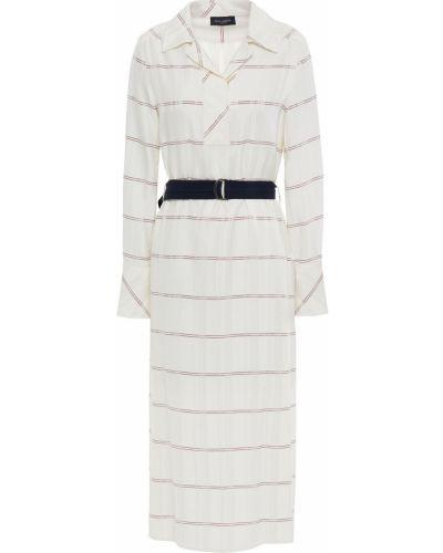 Платье миди на пуговицах - белое Piazza Sempione