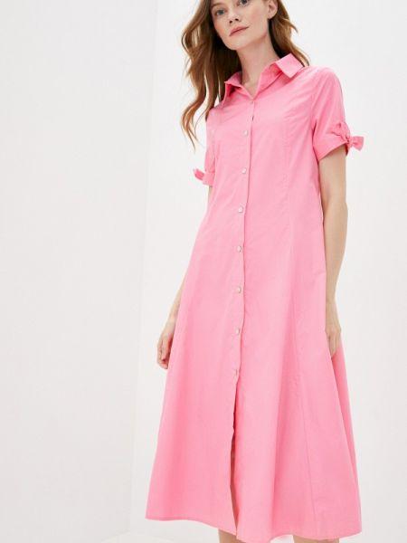 Платье розовое платье-рубашка Sweewe