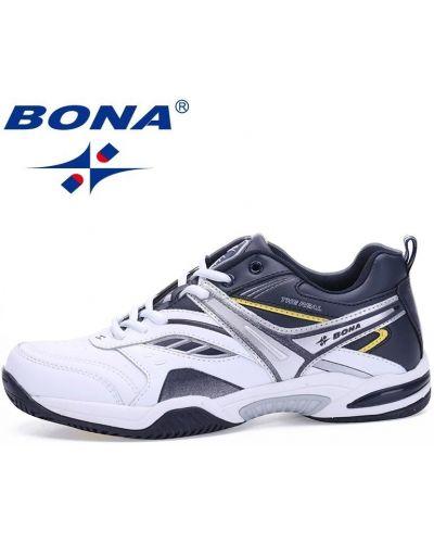 Кожаные кроссовки для бега - белые Bona