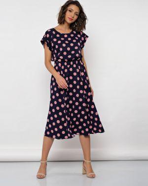 Платье с поясом платье-сарафан с цельнокроеным рукавом Jetty