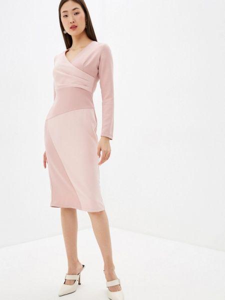 Вечернее платье розовое весеннее Adzhedo