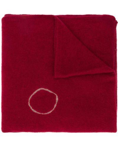 Тонкий кашемировый красный шарф вязаный Suzusan