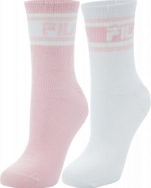 Спортивные носки розовый плоский Fila