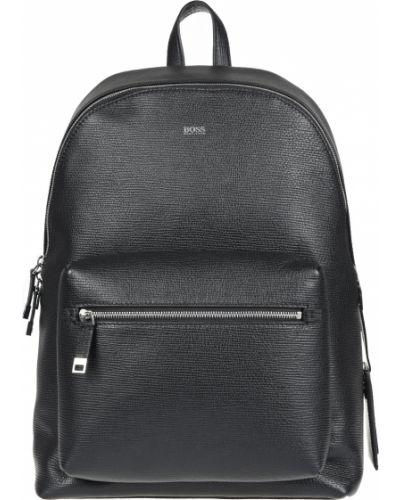 Кожаный рюкзак - черный Hugo Boss