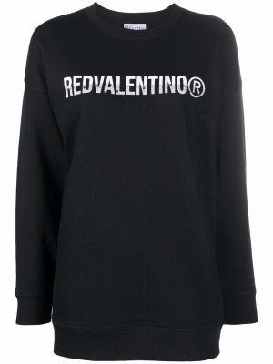 Черная толстовка с принтом Red Valentino