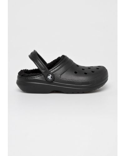 Сабо черные с подкладкой Crocs