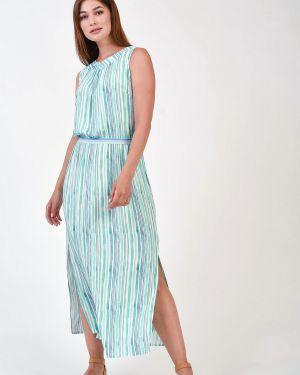 Платье из вискозы - голубое Steilmann
