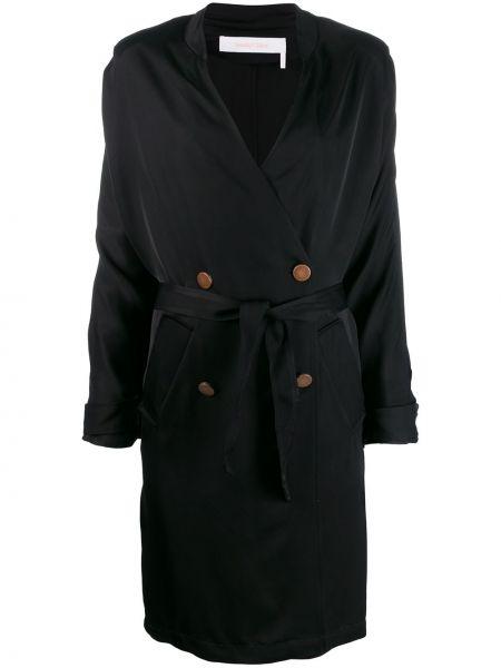 Черное пальто с капюшоном See By Chloé