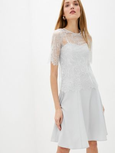 Повседневное платье серое весеннее Twinset Milano