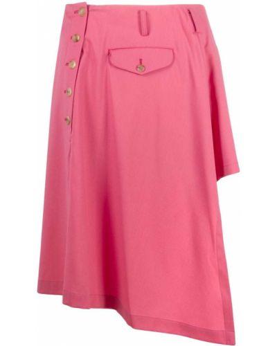 Шерстяная розовая юбка с карманами на пуговицах Comme Des Garçons Homme Plus