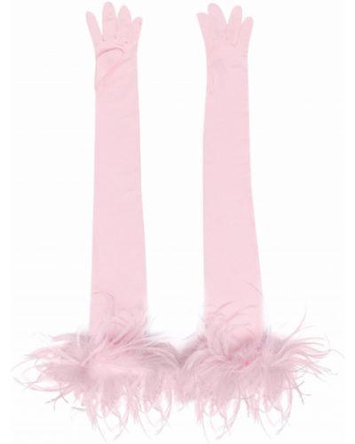 Różowe rękawiczki bez palców Styland