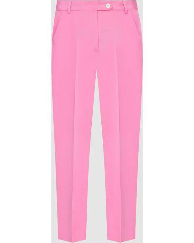 Шелковые брюки - розовые Kiton