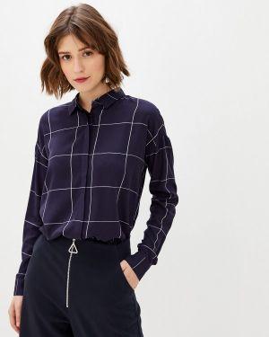 Блузка с длинным рукавом синяя Sela