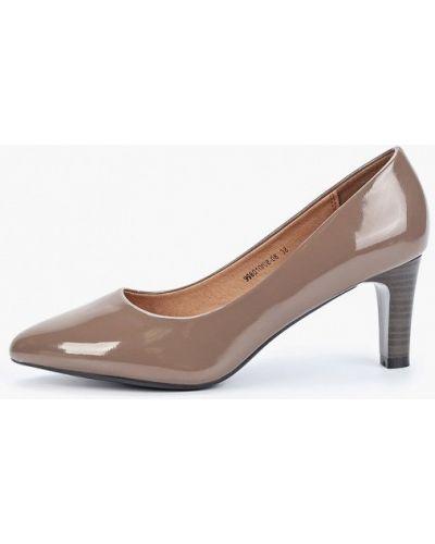 Туфли на каблуке кожаные лодочки Betsy