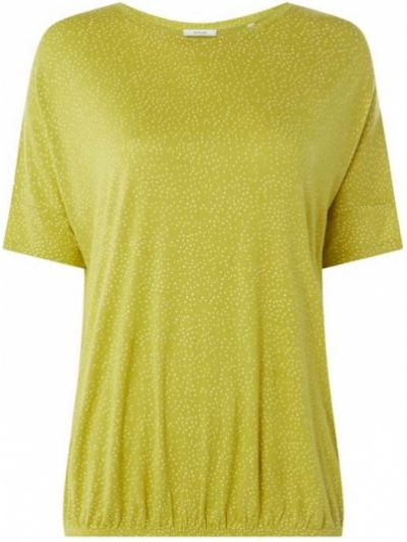 T-shirt z wiskozy - zielona Opus