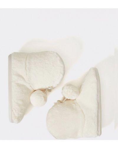 Домашние тапочки белые Oysho