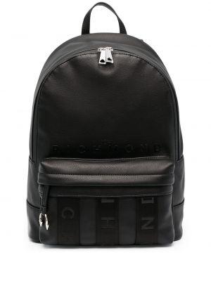 Черный кожаный рюкзак на молнии John Richmond