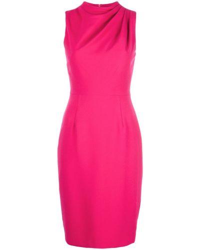 Плиссированное розовое приталенное вечернее платье Black Halo