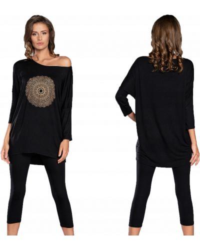 Czarna piżama z wiskozy Italian Fashion