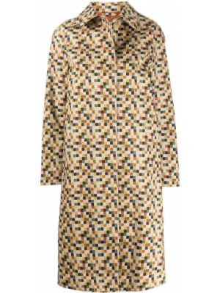 Однобортное длинное пальто с капюшоном с воротником Mackintosh