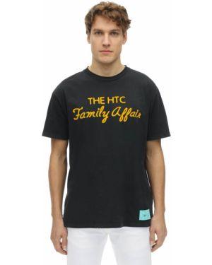 Czarny t-shirt z printem Htc Los Angeles