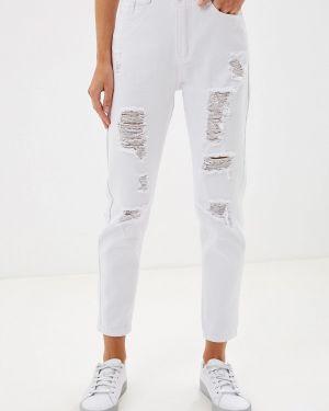 Прямые джинсы белые Glam Goddess