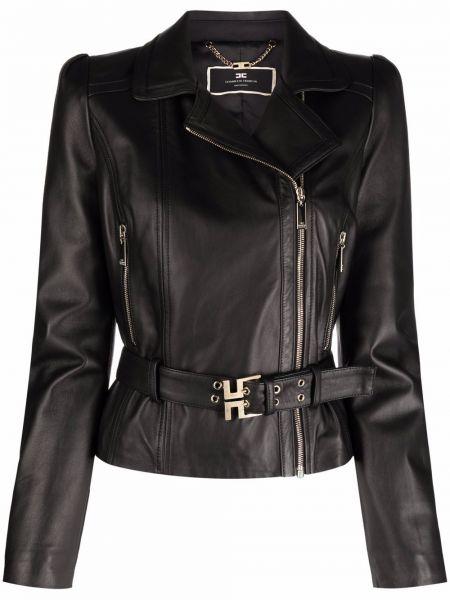 Черная куртка длинная Elisabetta Franchi