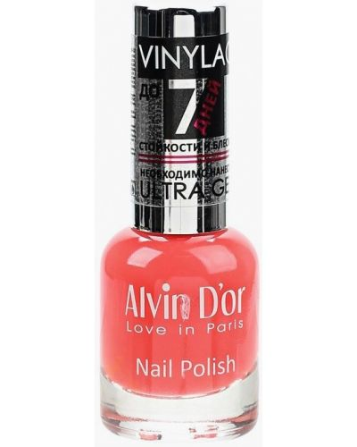 Красный лак для ногтей Alvin D'or