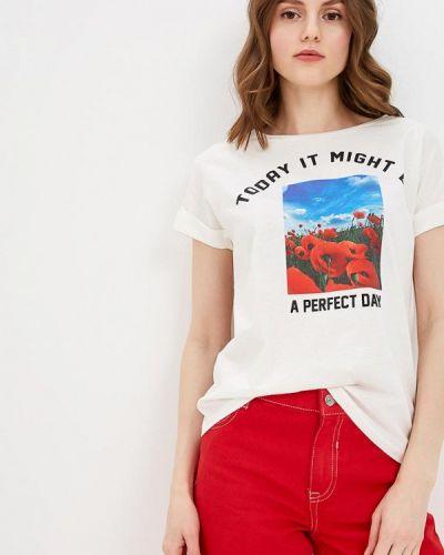 Белая футболка 2019 Springfield