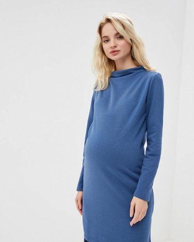 Платье осеннее синее Мама Мила