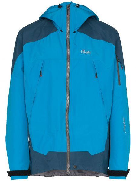 Niebieska kurtka z kapturem z długimi rękawami Tilak