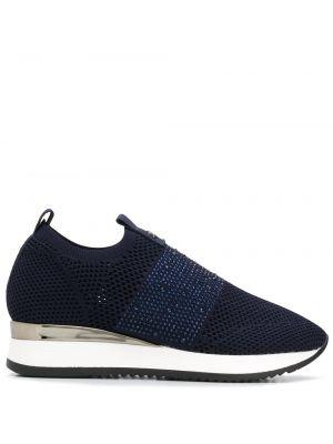 Синие кроссовки с сеткой без застежки Carvela