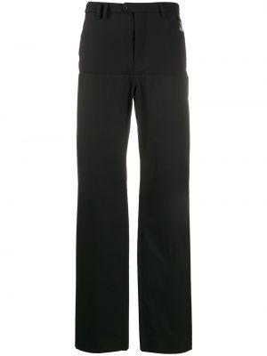 Czarne spodnie bawełniane z paskiem Raf Simons