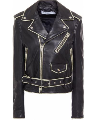 Кожаная куртка на пуговицах - черная Iro