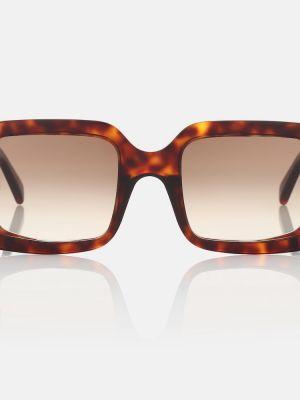 Солнцезащитные очки винтажные - коричневые Celine Eyewear